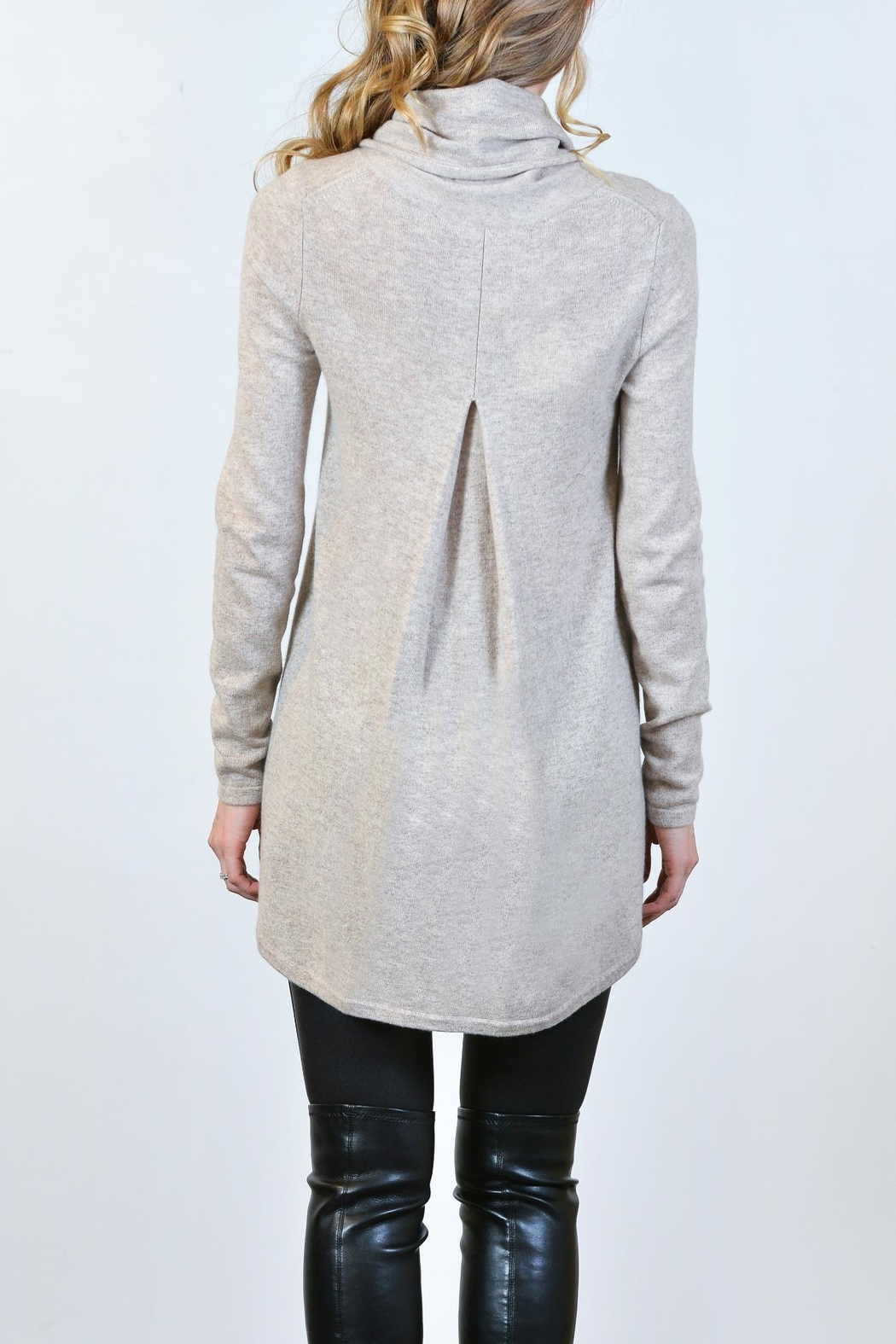 Kinross Cashmere Cashmere Cowl Tunic - Side Cropped Image