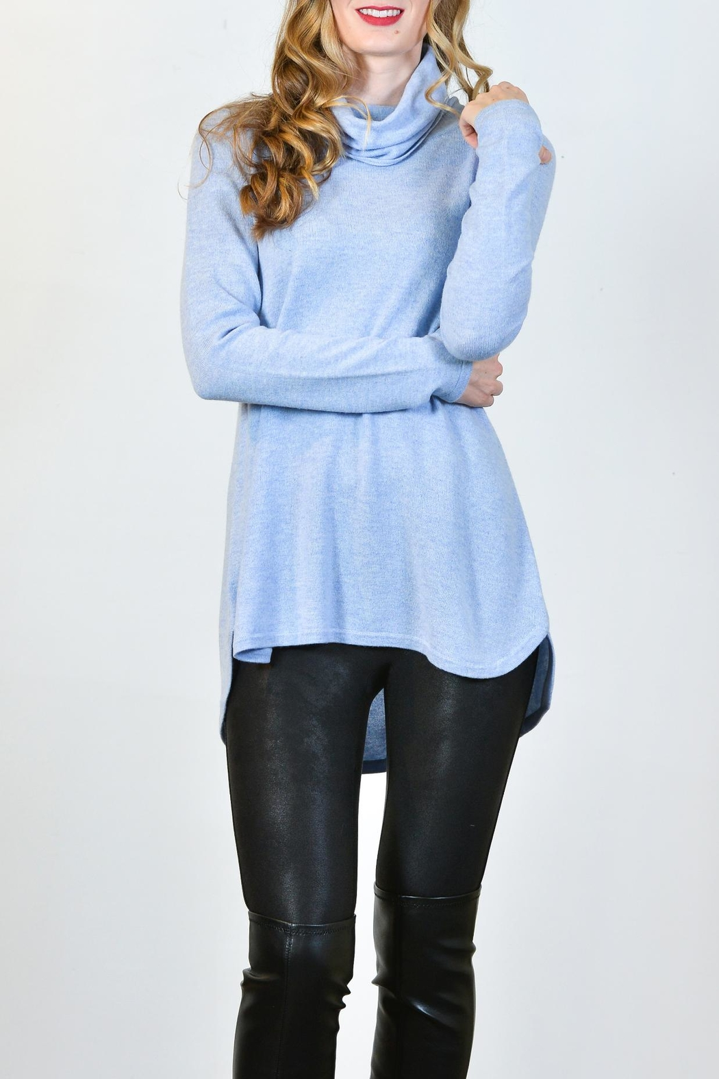 Kinross Cashmere Cashmere Cowl Tunic - Front Full Image