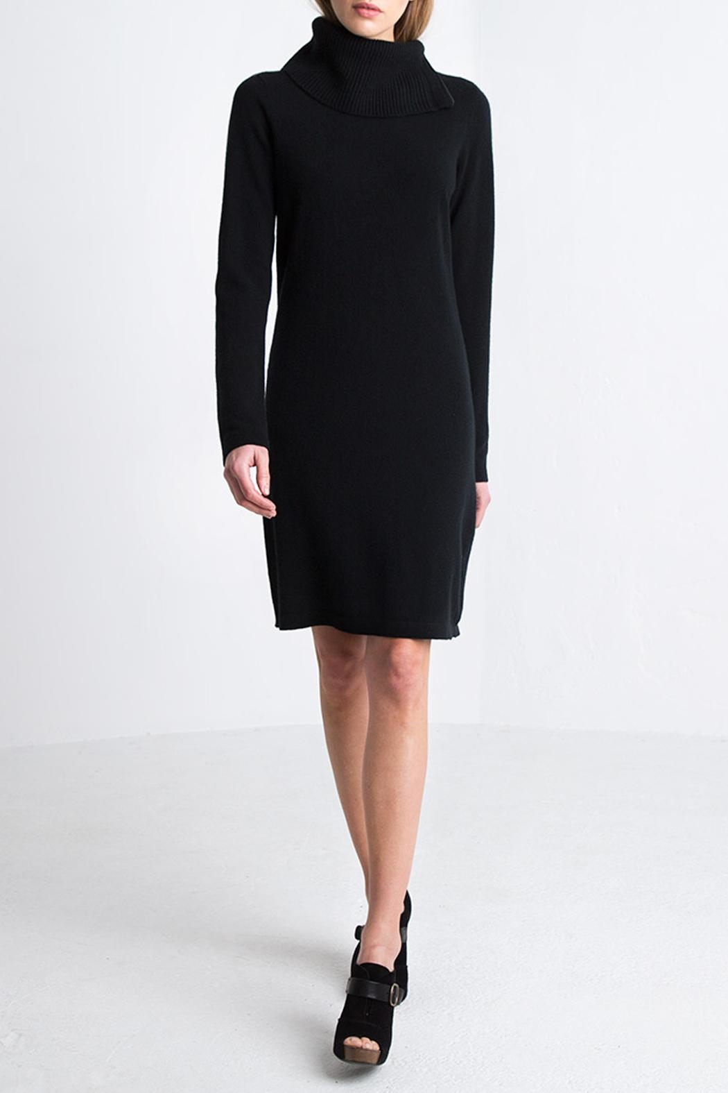 Kinross Cashmere Chunky T-Neck Dress - Main Image