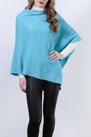 Kinross Cashmere Twisted Cable Poncho - Product Mini Image
