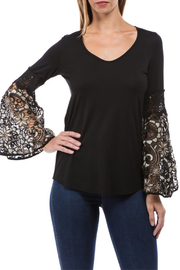 Vava by Joy Hahn Kinsey Lace Bell Slv Top - Product Mini Image