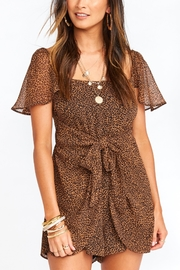 Show Me Your Mumu Kinsley Leopard Romper - Front cropped