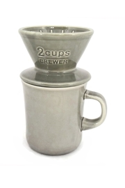 Kinto Mug With Pourover - Front cropped