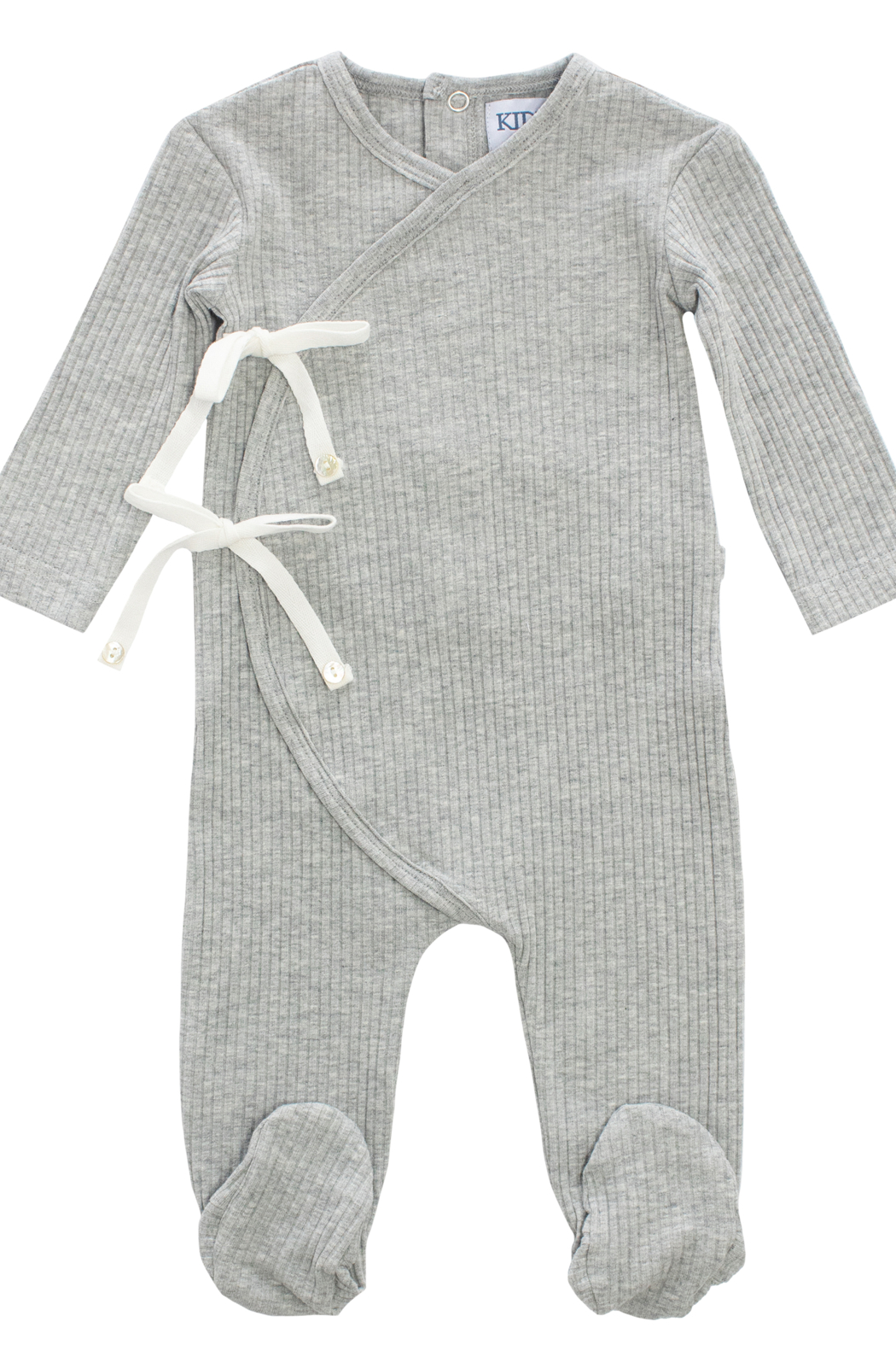 KIPP Baby Rib Bow Wrap Romper - Front Cropped Image