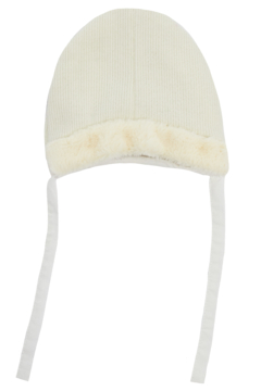 Shoptiques Product: KIPP Baby Rib Knit Fur Hat