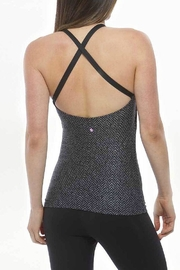 Kira Grace Herringbone Halter Tank - Front full body