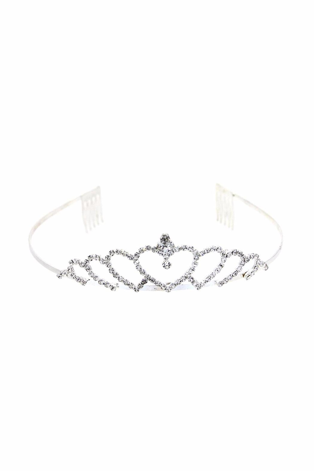 Kirks Folly Crystal Heart Tiara - Side Cropped Image