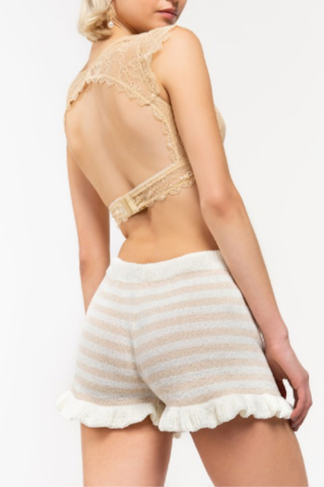 POL Kirpa Striped Shorts - Front Full Image