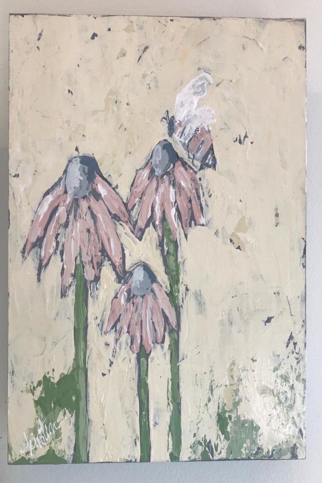 Kirsten Reed Art Bee&Flower Original Art - Main Image