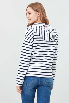 Joules Kirstie Striped Hooded Sweatshirt - Alternate List Image