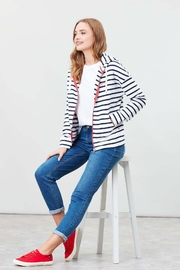 Joules Kirstie Striped Hooded Sweatshirt - Product Mini Image