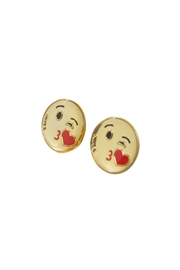 Mayes Accesorios Kiss Emoji Earrings - Front cropped
