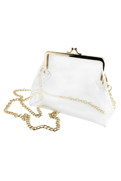 Shoptiques Product: Kiss Lock Clear Crossbody