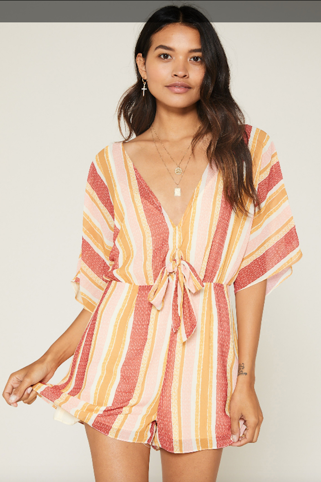 SAGE THE LABEL Kiss The Sun Romper - Back Cropped Image