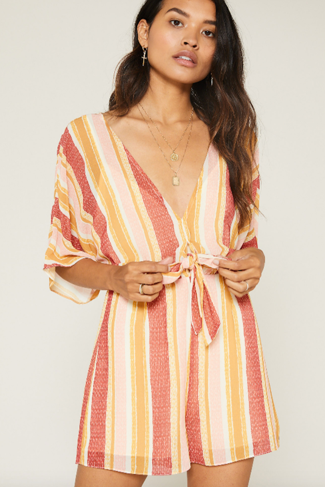 SAGE THE LABEL Kiss The Sun Romper - Side Cropped Image