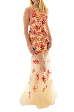 Kiss Keep It Simply Stylish Floral Illusion Gown - Product List Image