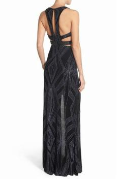 Shoptiques Product: Geometric Glitter Gown