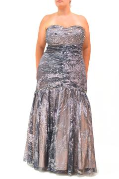 Kiss Keep It Simply Stylish Shimmery Curvy-Girl Gown - Product List Image