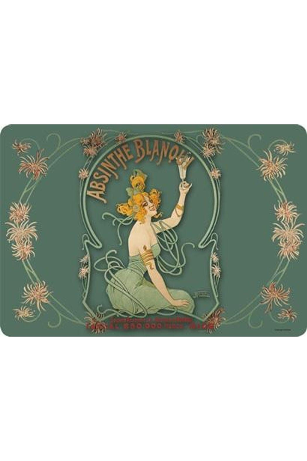 Kiss That Frog Absinthe Blanqui Placemat - Front Cropped Image