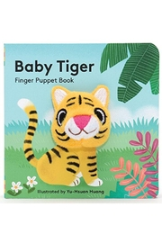 Kiss That Frog Baby Tiger: Puppet Book - Front cropped