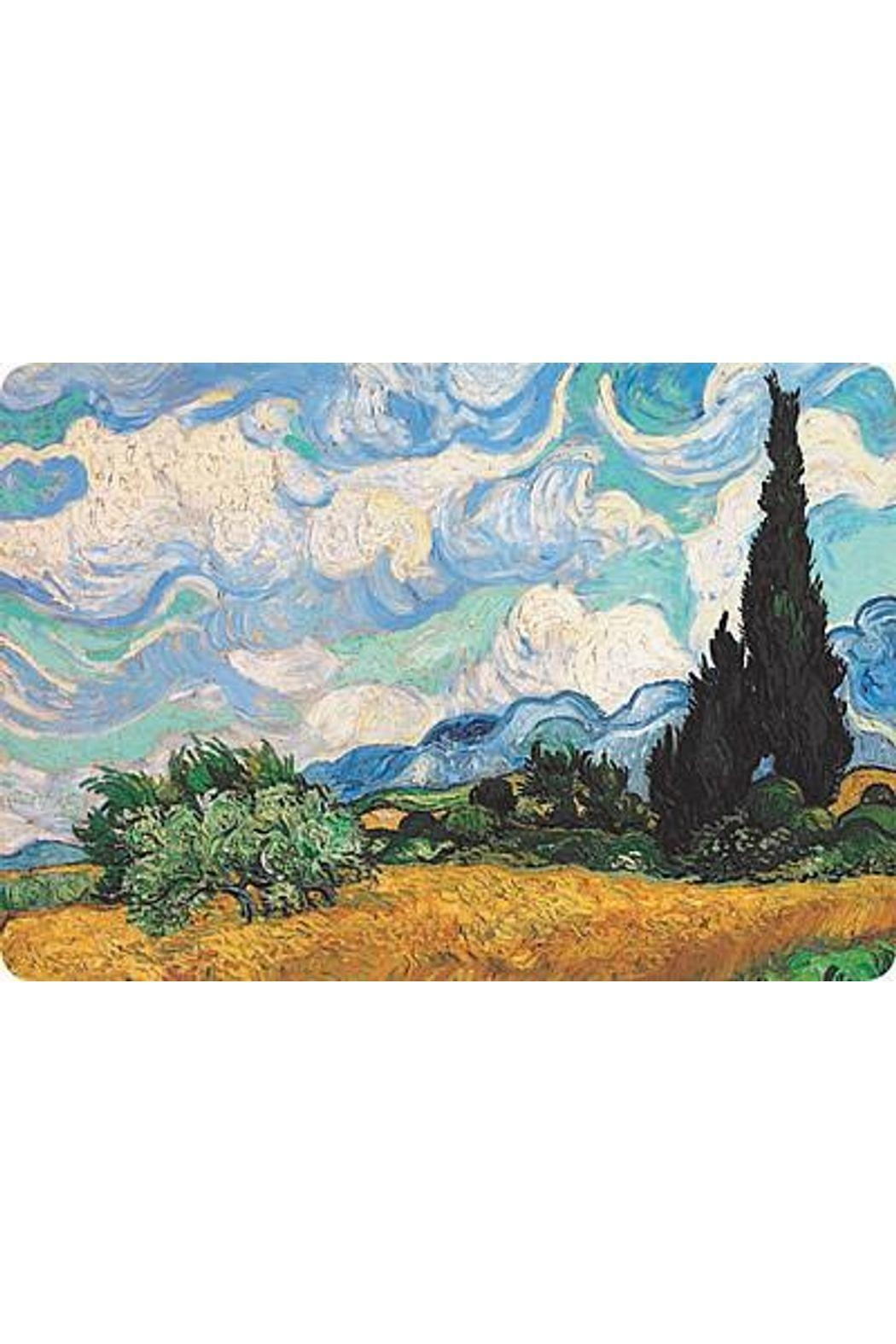 Kiss That Frog Wheat Field Cypresses Placemat - Main Image