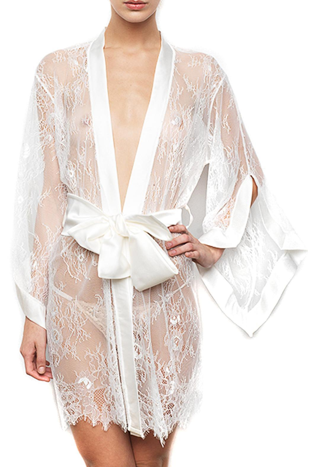 KissKill Ivory Fiore Robe - Front Cropped Image
