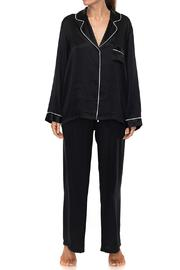 KissKill Silk Pajamas Black - Product Mini Image