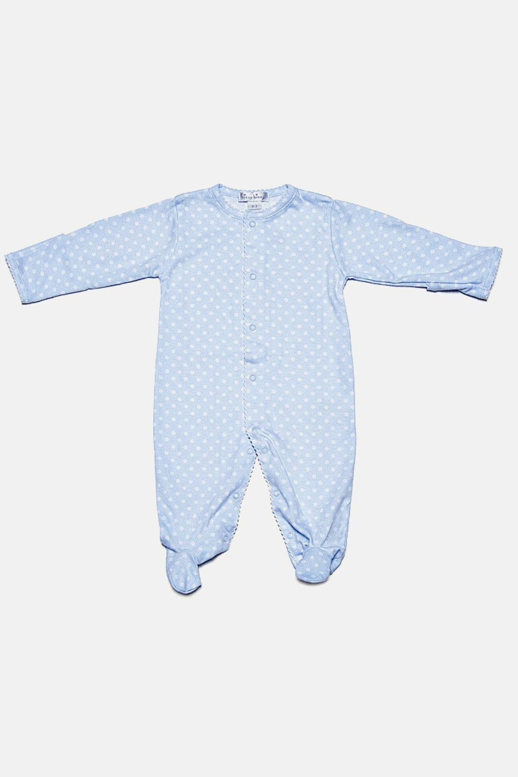 Kissy Kissy Baby-Boy Mega-Dots Footie - Front Cropped Image