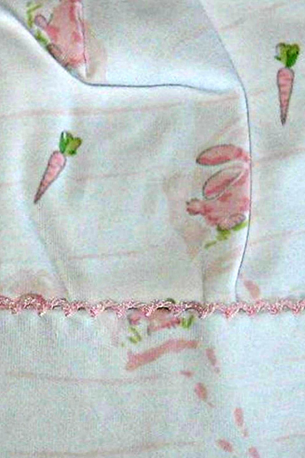 Kissy Kissy Baby-Girl Bunny-Patch Convertible-Gown - Front Full Image