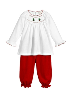 Shoptiques Product: Christmas Smocked Pant-Set