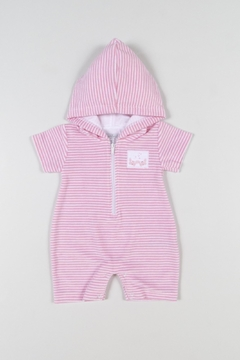 Kissy Kissy Crab Hoody Romper - Alternate List Image