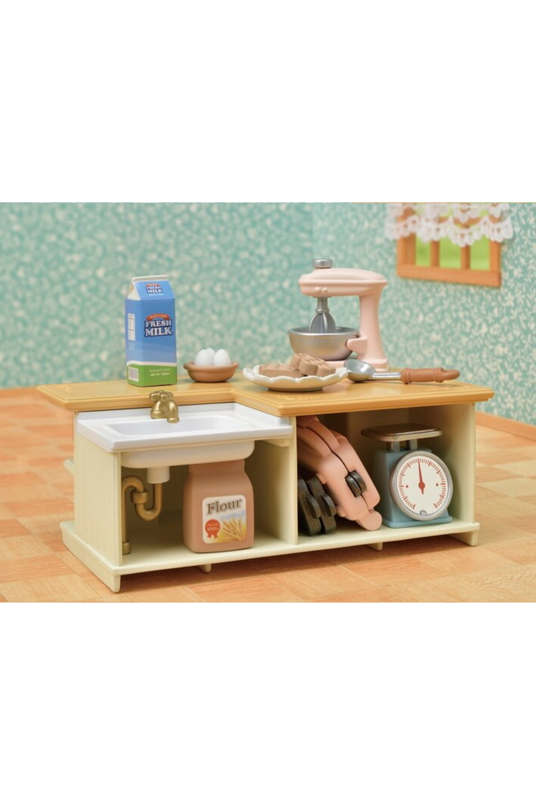 Calico Critters Kitchen Island - Back Cropped Image