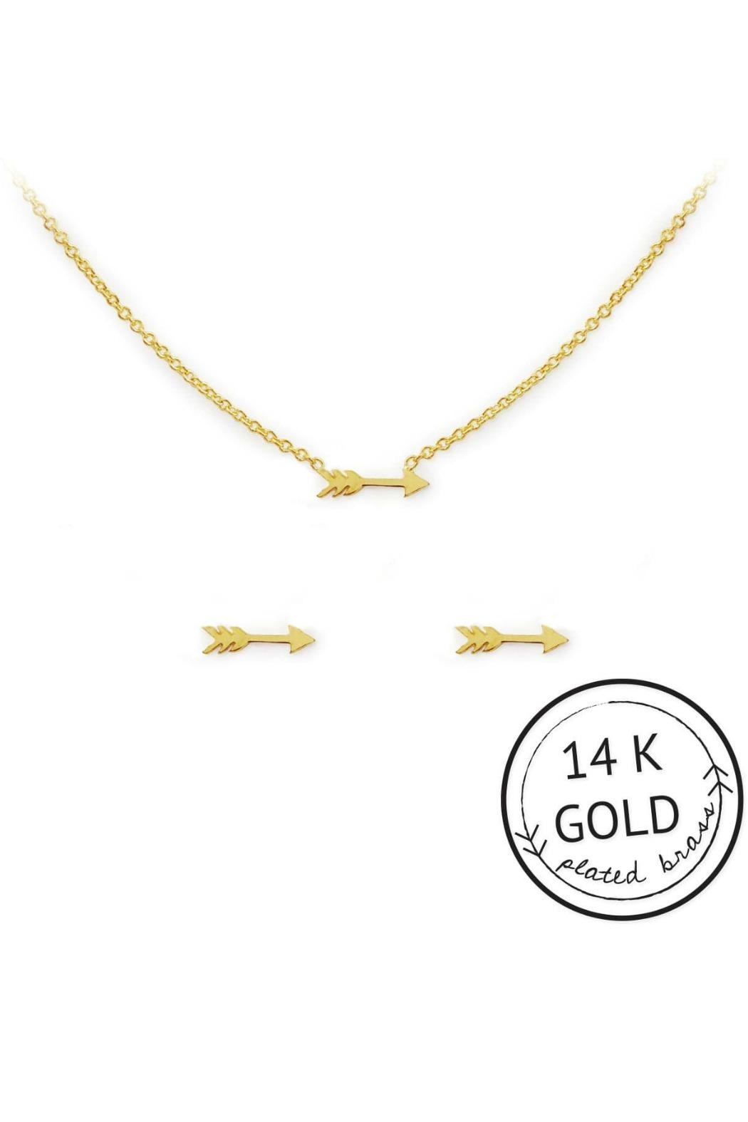 Kitsch Arrow Necklace Set - Front Full Image