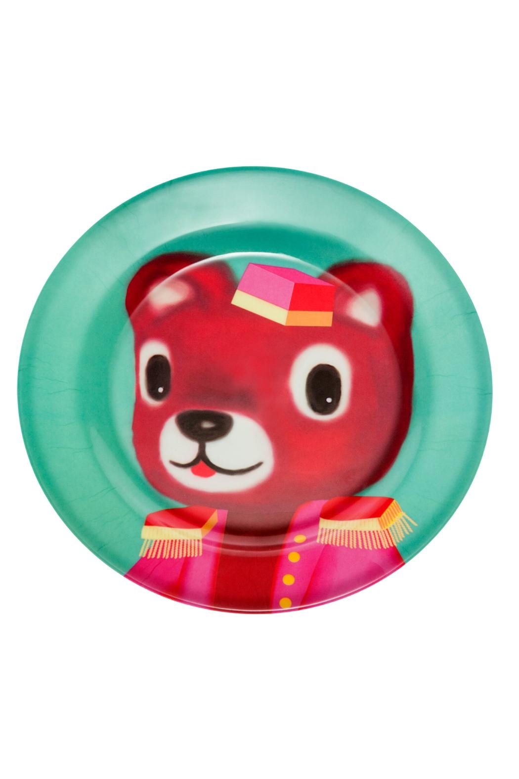 Kitsch Kitchen Bear Melamine Plate - Main Image