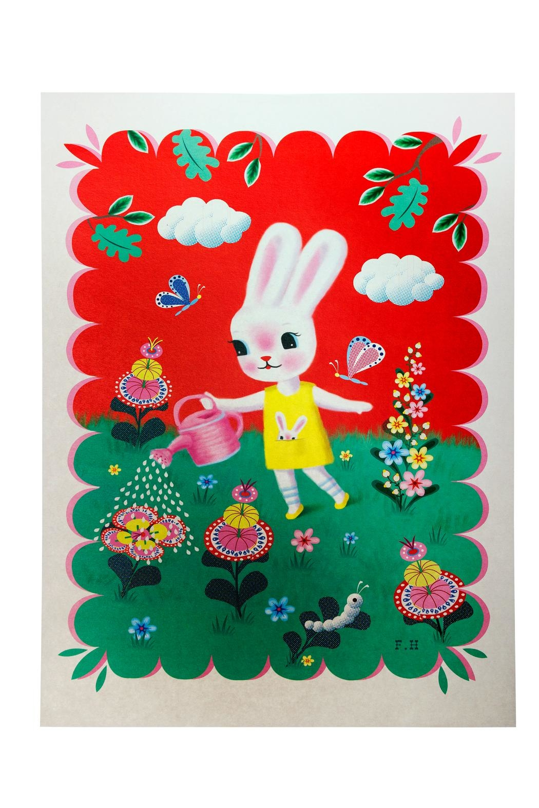 Kitsch Kitchen Rabbit Poster - Front Cropped Image