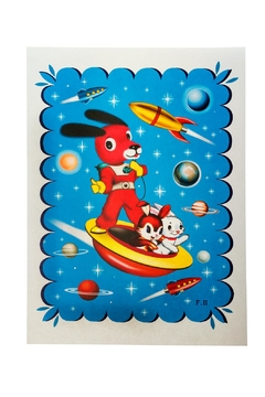 Kitsch Kitchen Space Dog Poster - Product List Image
