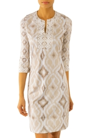 Gretchen Scott Kitt Ikat Jersey Split-Neck Dress - Product Mini Image