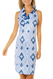 Gretchen Scott Kitt Ikat Ruffneck Sleeveless Dress - Product Mini Image