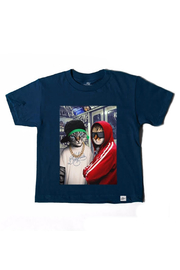 Kid Dangerous Kitty Crew Tee - Front cropped