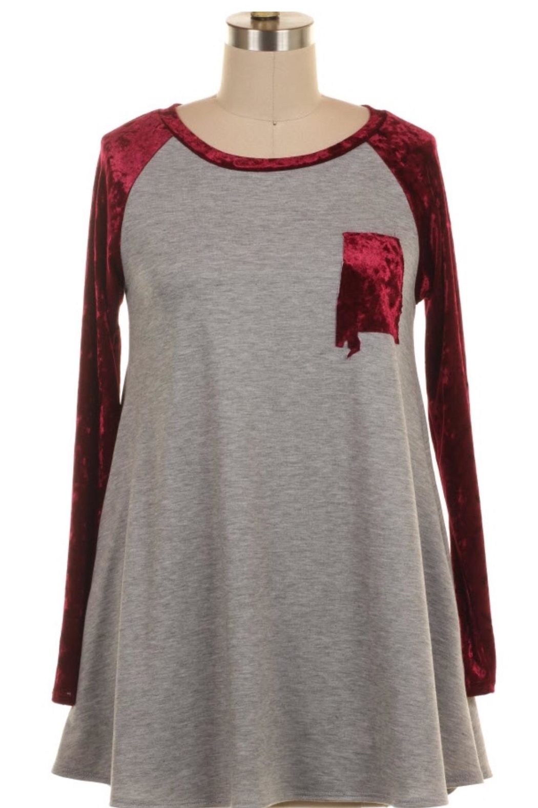 KITTY COUTURE  Alabama Velvet Tunic - Main Image