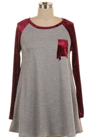 KITTY COUTURE  Alabama Velvet Tunic - Front cropped