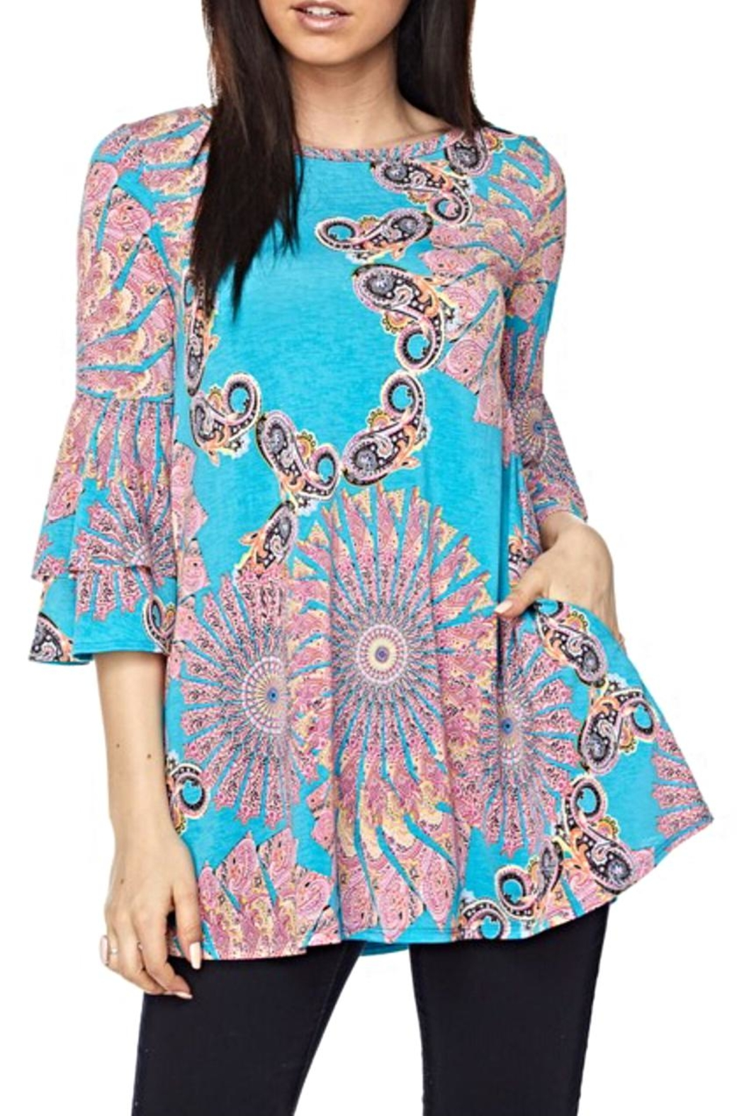 KITTY COUTURE  Bell Sleeve Tunic - Main Image