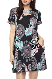 KITTY COUTURE  Black Keyhole Tunic - Front cropped