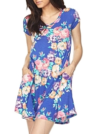 KITTY COUTURE  Blue Floral Tunic - Product Mini Image