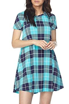 Shoptiques Product: Blue Plaid Tunic Dress