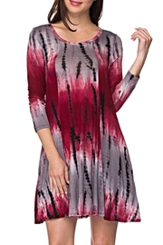 KITTY COUTURE  Burgundy Tiedye Tunic - Front cropped