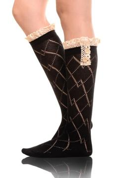 Shoptiques Product: Crochet Boot Sock