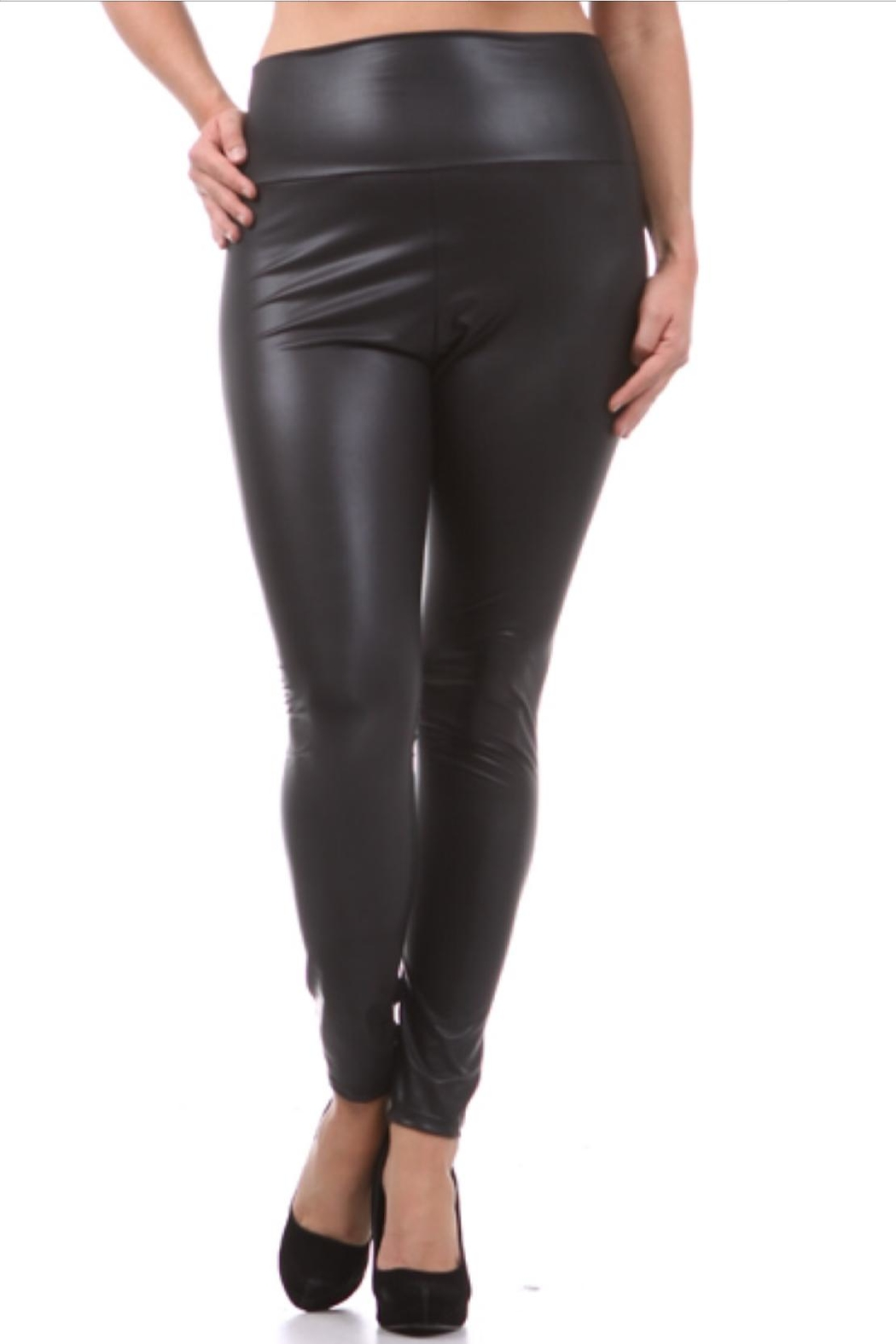 KITTY COUTURE  Faux Leather Leggings - Front Cropped Image