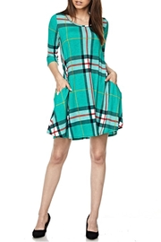 KITTY COUTURE  Green Plaid Tunic - Product Mini Image