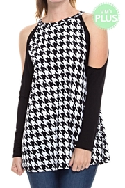 KITTY COUTURE  Houndstooth Cold Shoulder - Product Mini Image